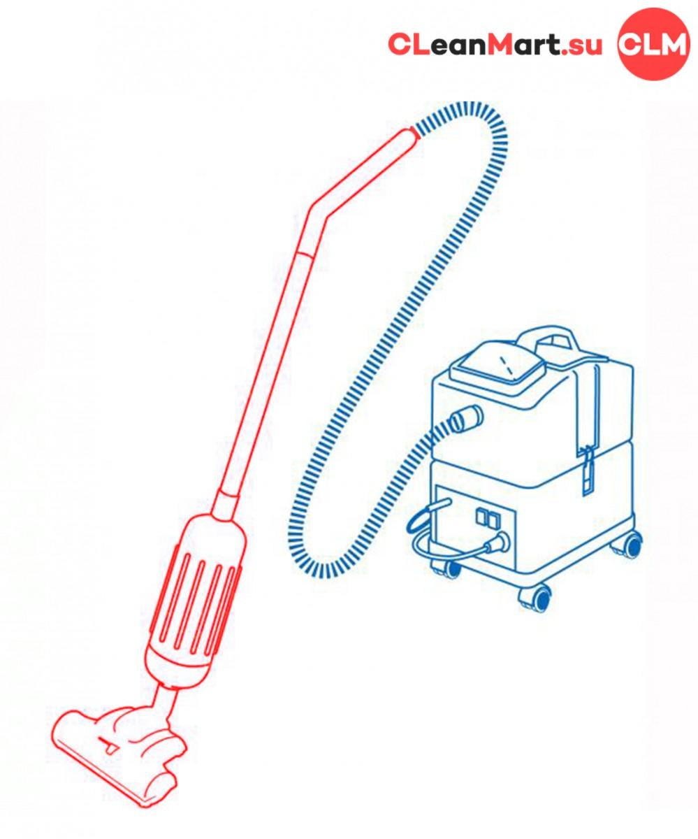 Насадка-пылесос с вращающейся щеткой для экстр. машины SABRINA